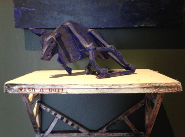 """""""Bull"""", small maquette for painting, 1995."""