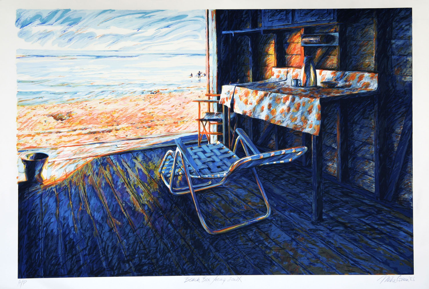 """Beach box facing South"""