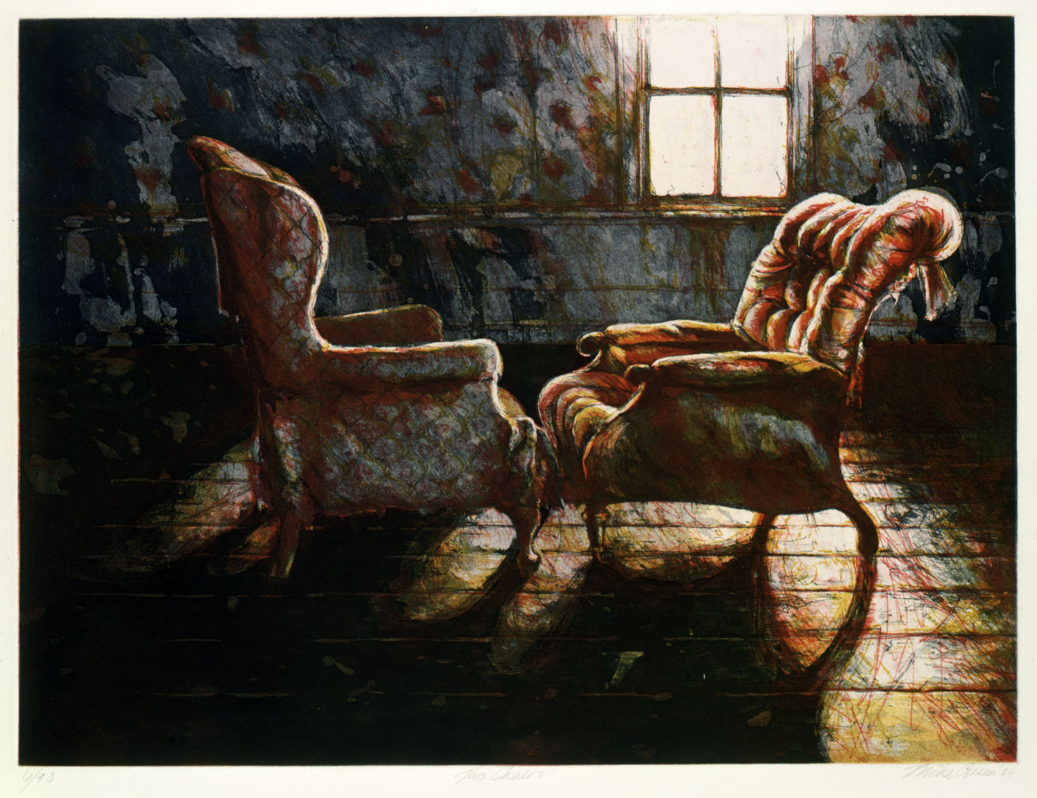 "Two chairs""  (Farmhouse Route 1, New Hampshire)"