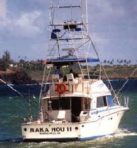 Hawaii fishing charter island of Kauai