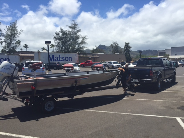 Kauai bass fishing boat