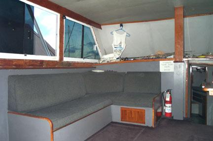Maui fishing boat Hinatea interior