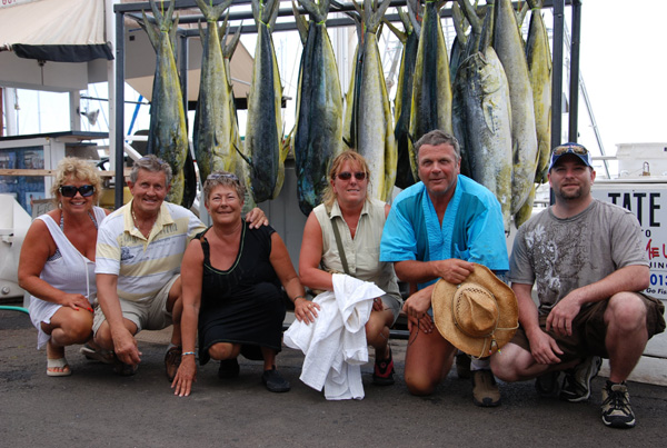 Mahimahi catch on Maui fishing trip