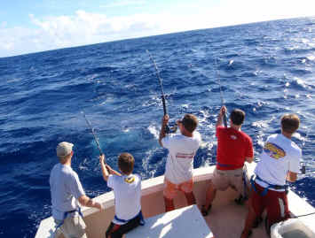 Light tackle fishing on Maui