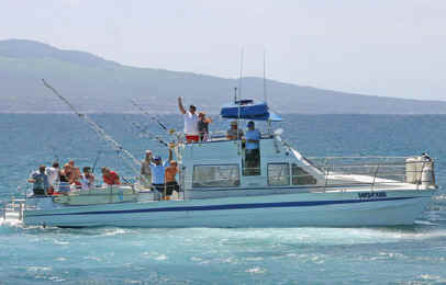 Near shore fishing off Lahaina, Maui