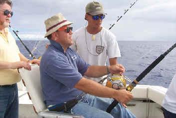 Hawaii fishing charter boat Magic chair