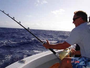 Hawaii fishing charter fighting fish