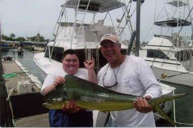 Make a Wish fishing trip mahimahi catch
