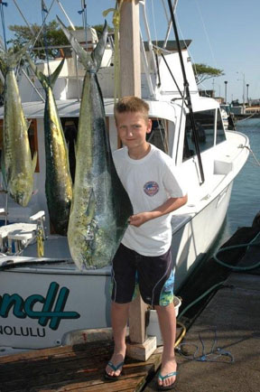 Mahimahi kid's catch in Hawaii