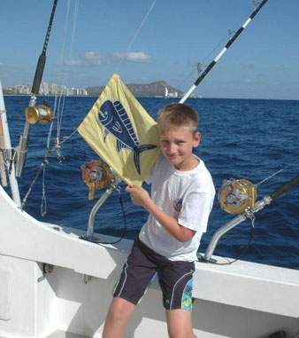 Mahimahi flag on Oahu
