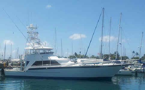 Oahu luxury fishing charter boat