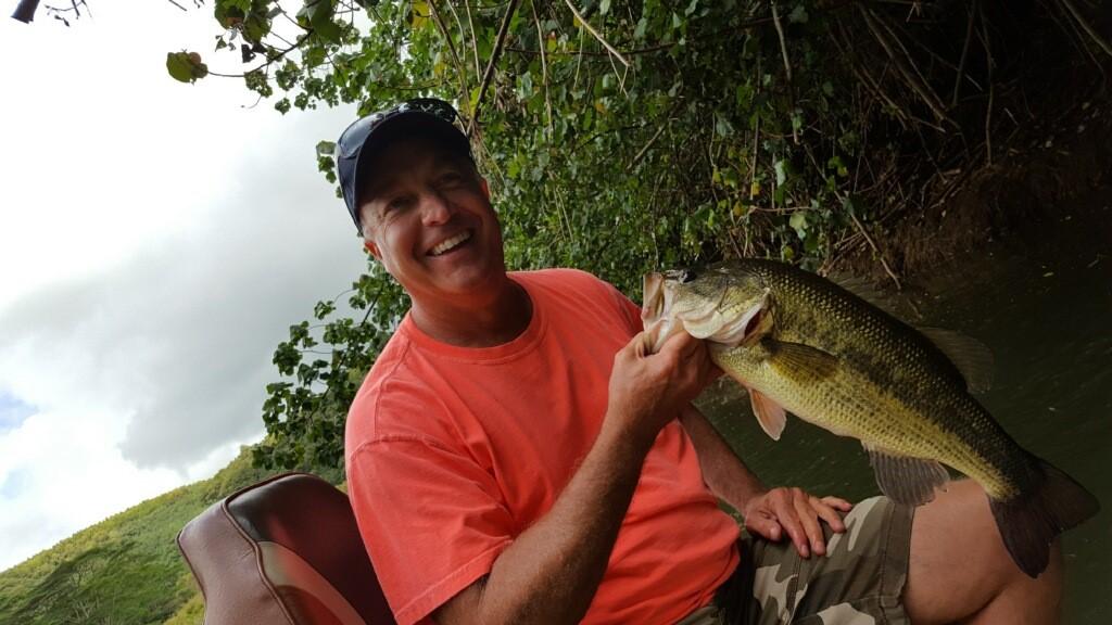 Nice largemouth bass caught in May on Kauai