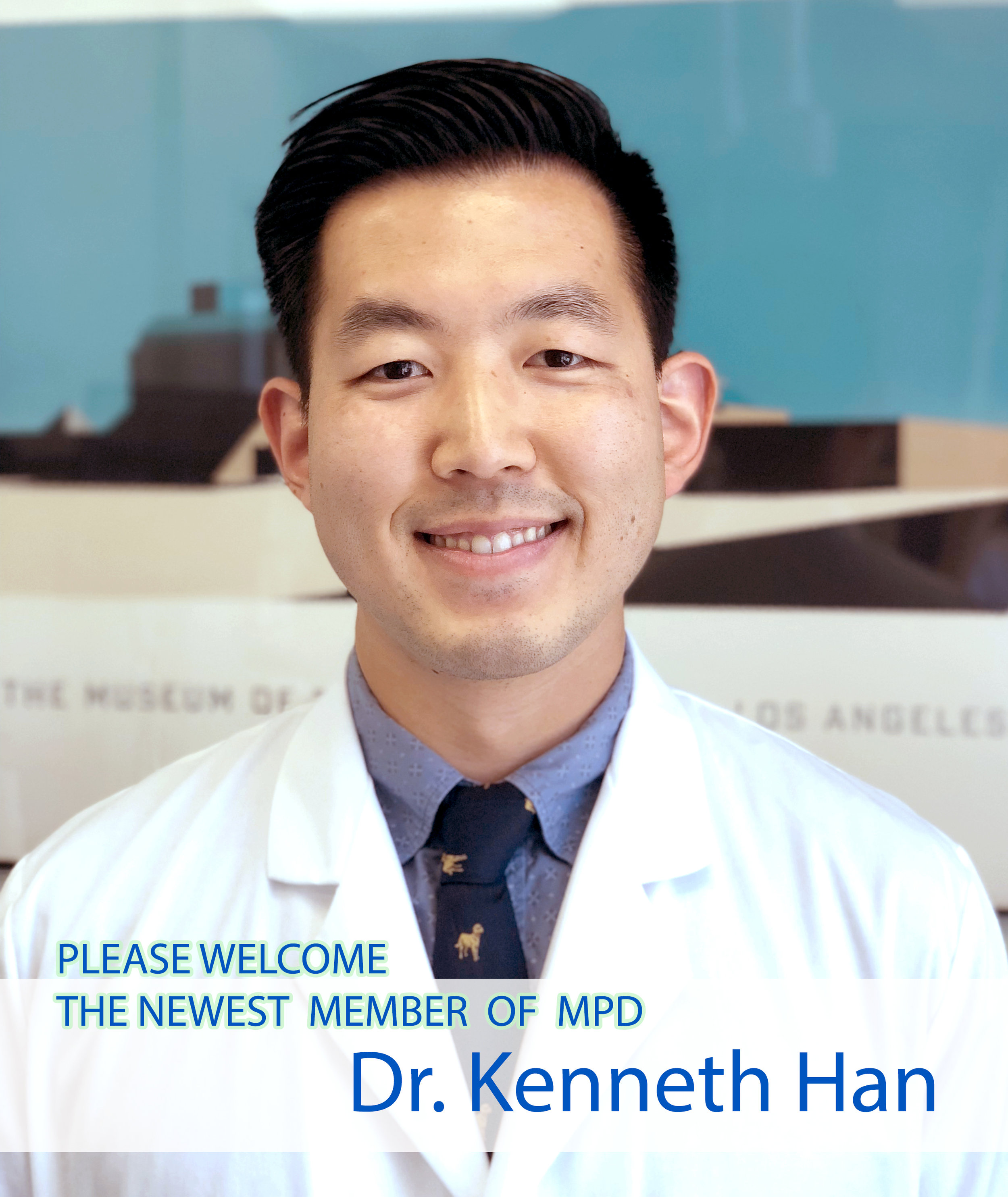 - Dr. Kenneth Han is the most recent addition to our practice this July.  Dr. Han was born and raised in San Francisco, and went to NYU School of Dentistry. Additionally, he devoted two years to pursuing advanced dentistry at the University of the Pacific. We are excited that his meticulous care will be a great asset to our practice. He is also passionate about martial arts and traveling.