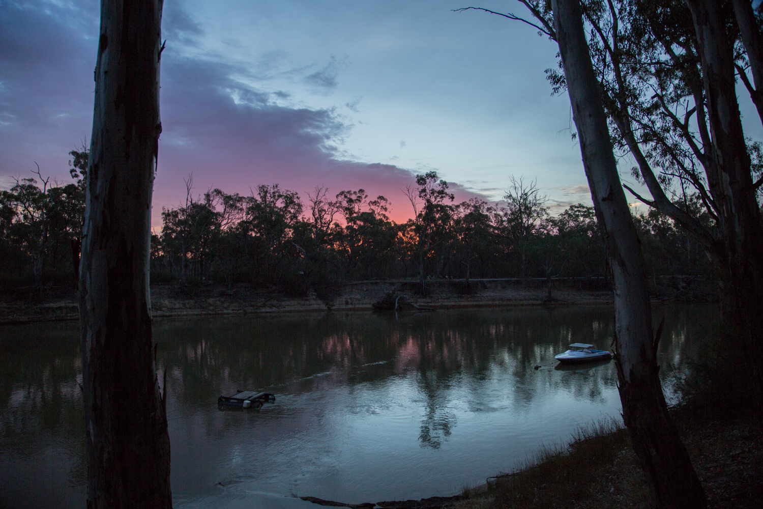 Twilight on the Murray River.