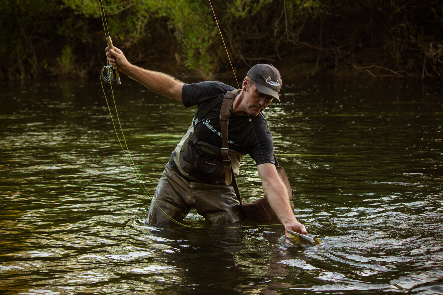 Paul hauling one out of the South Esk.