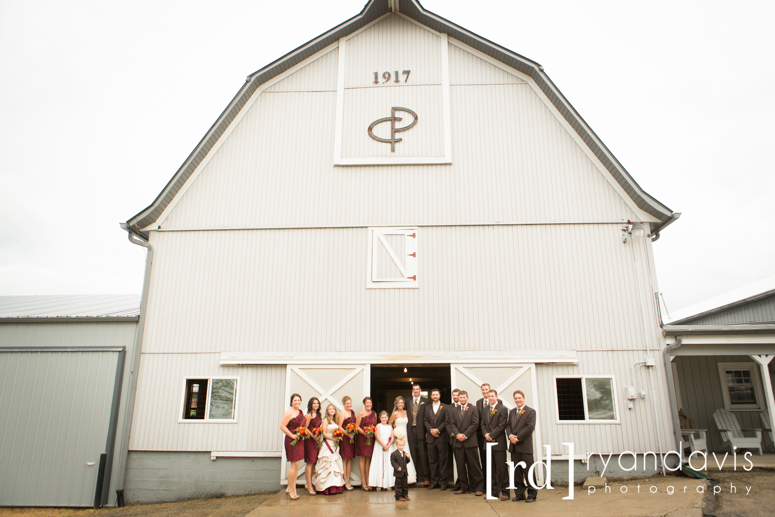 The Wedding Party at the Barn