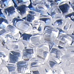 Polycarbonates   Used in our domestic appliance manufacture for its rigidity, toughness and transparency.
