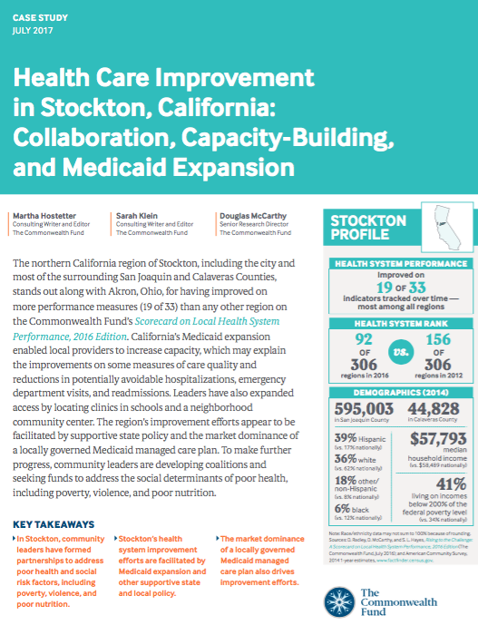 Health care improvement in stockton