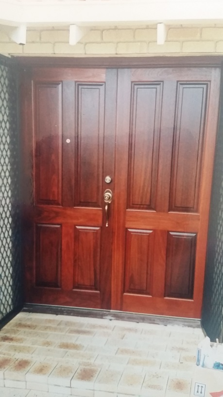 Solid timber doors manufactured, fitted and sealed.
