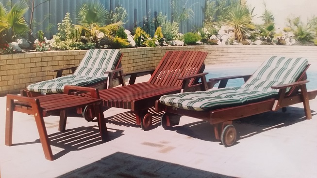 Poolside furniture designed and manufactured.