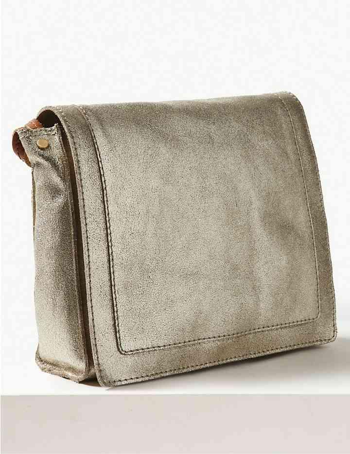 Suede Cross Body Bag, M&S, £59