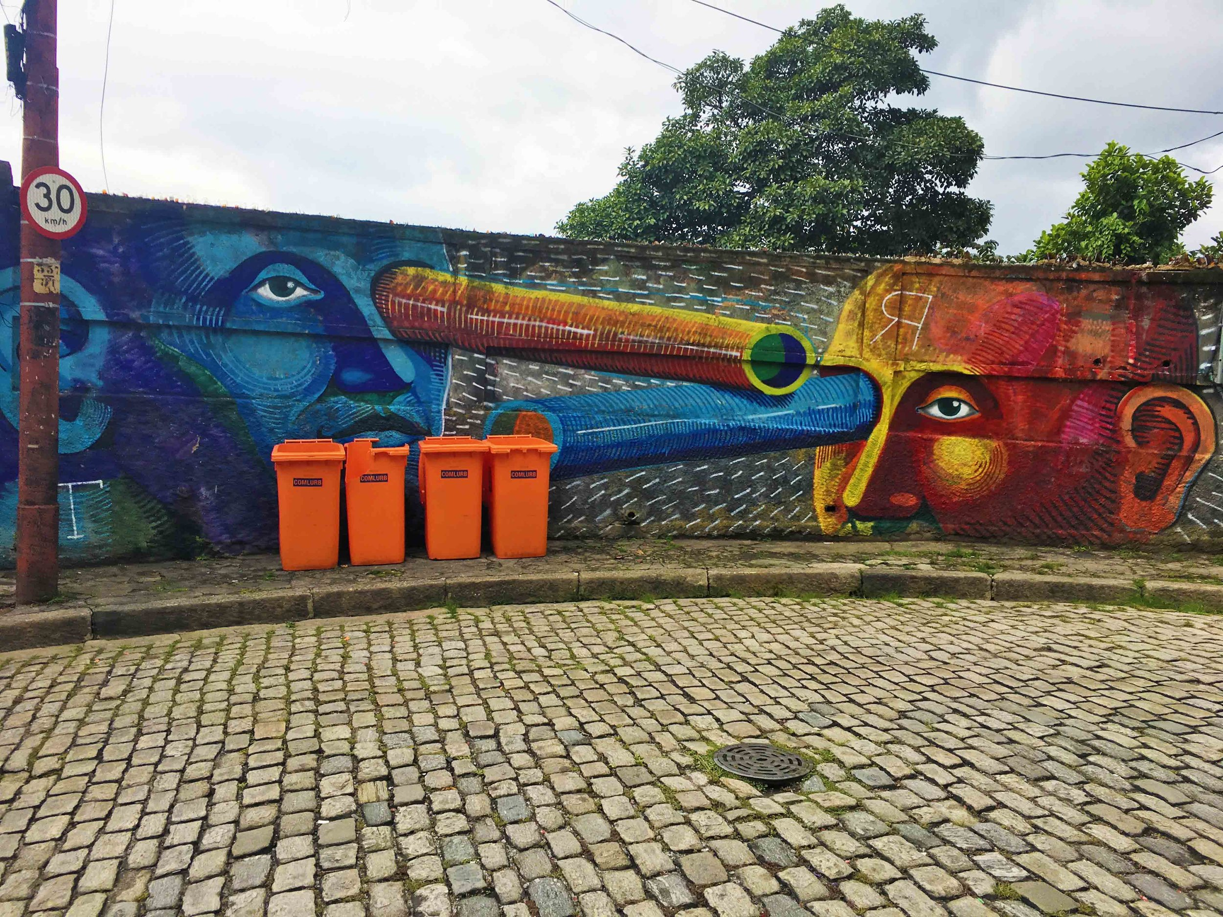 On practically every street corner in quirky santa teresa you will find constantly evolving and provocative street art.