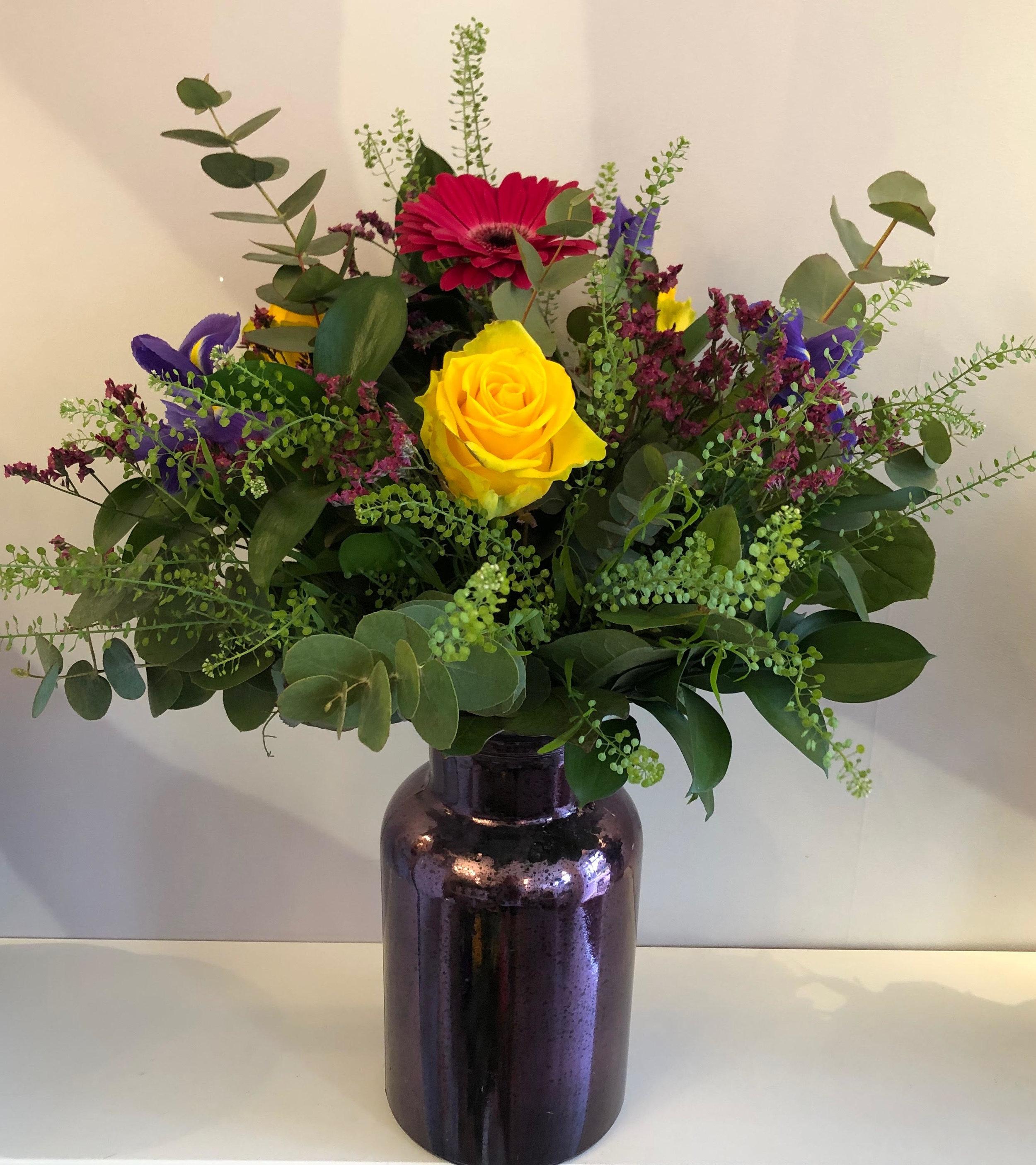 Seasonal hand tied vase arrangement & Seasonal hand tied vase arrangement \u2014 Lucas May Florist \u0026 Gifts ...