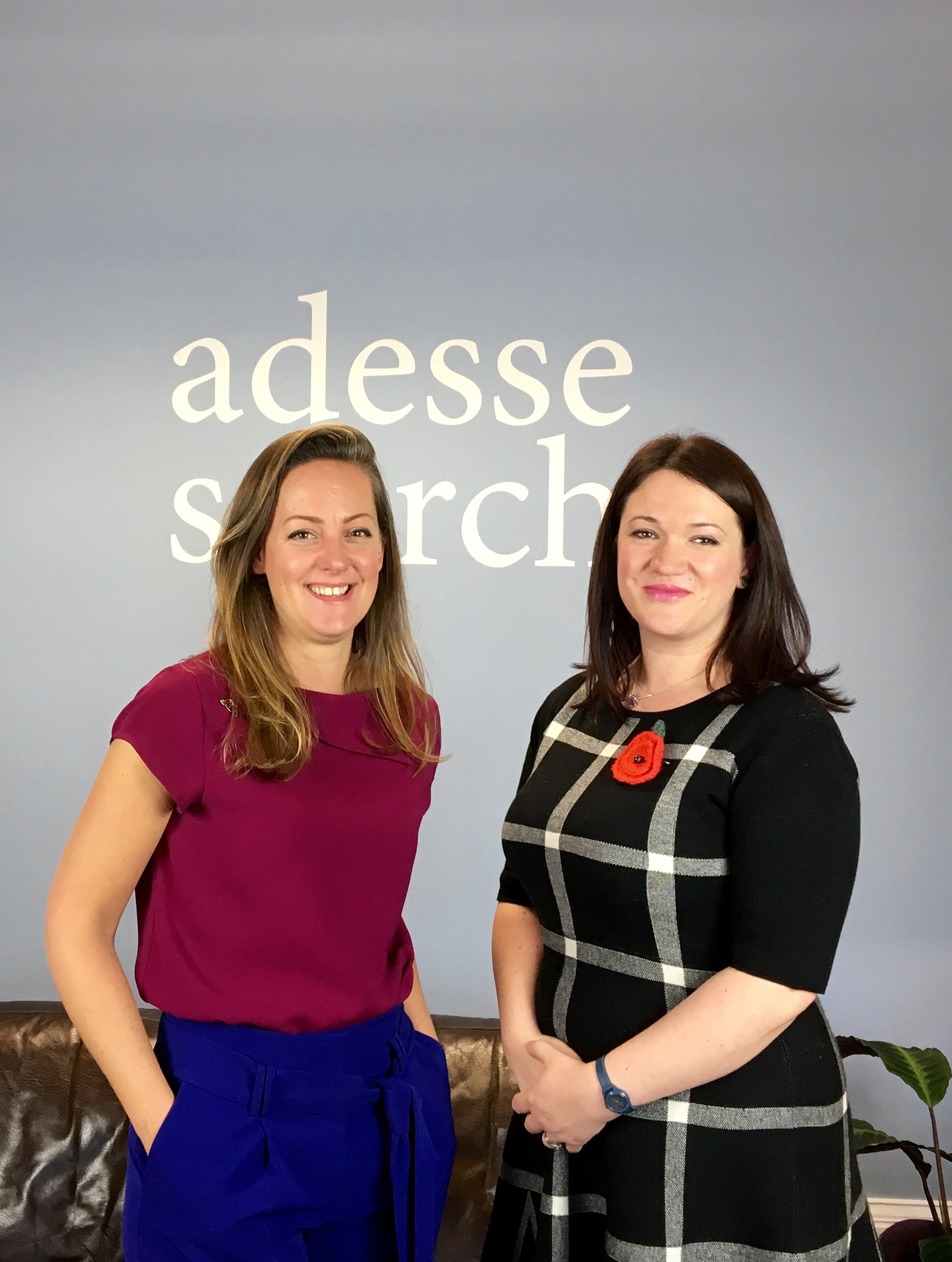Adesse Director Claire Ackers with Panintelligence CEO & Co-Founder, Zandra Moore