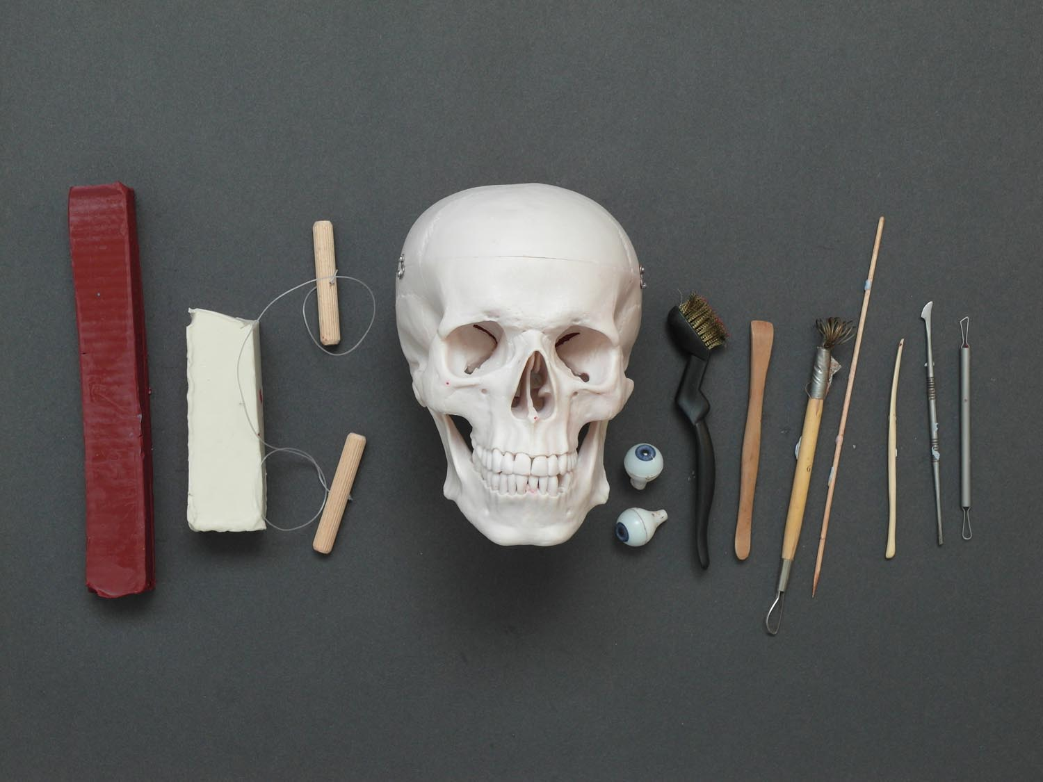 Here are some of the sculpting tools and materials I used to put this piece together.
