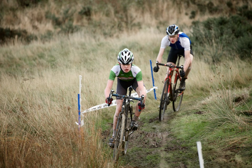 Two of Alford's finest CX Riders, Struan pryde and tim shoreman. Photo:  Colin Calder