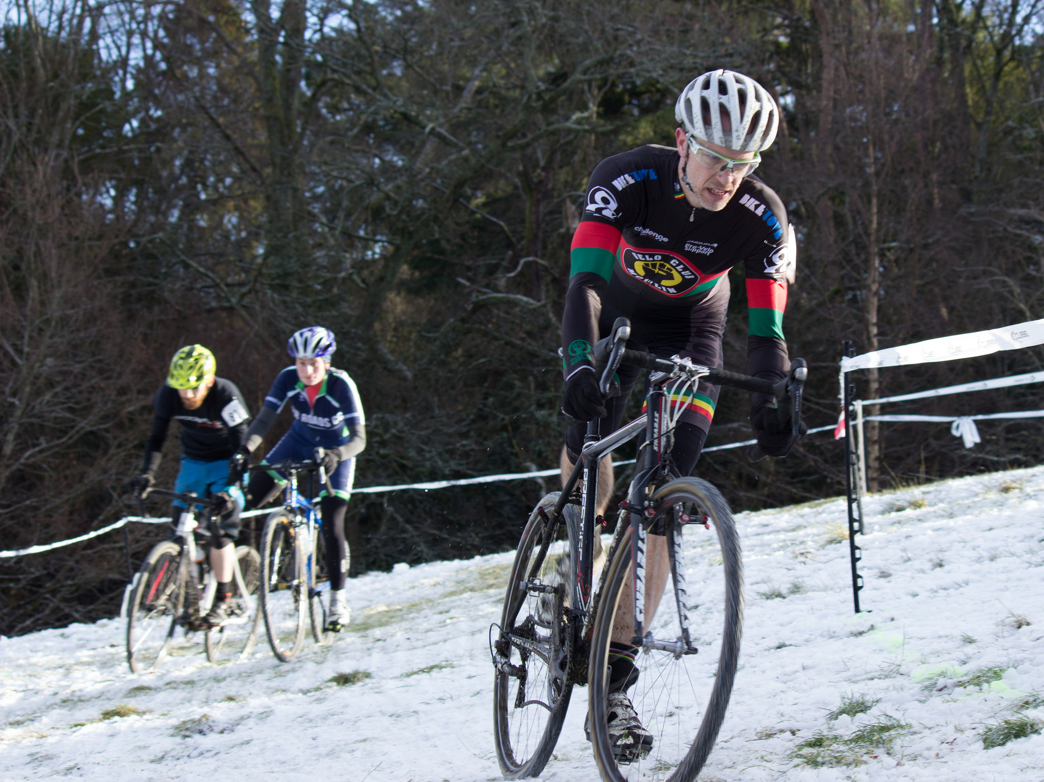 Turns out Niamh waters isn't the only member of her family to win this year. Fraser on his way to the win in the B-race at Rouen Glen. Photo: M. Young