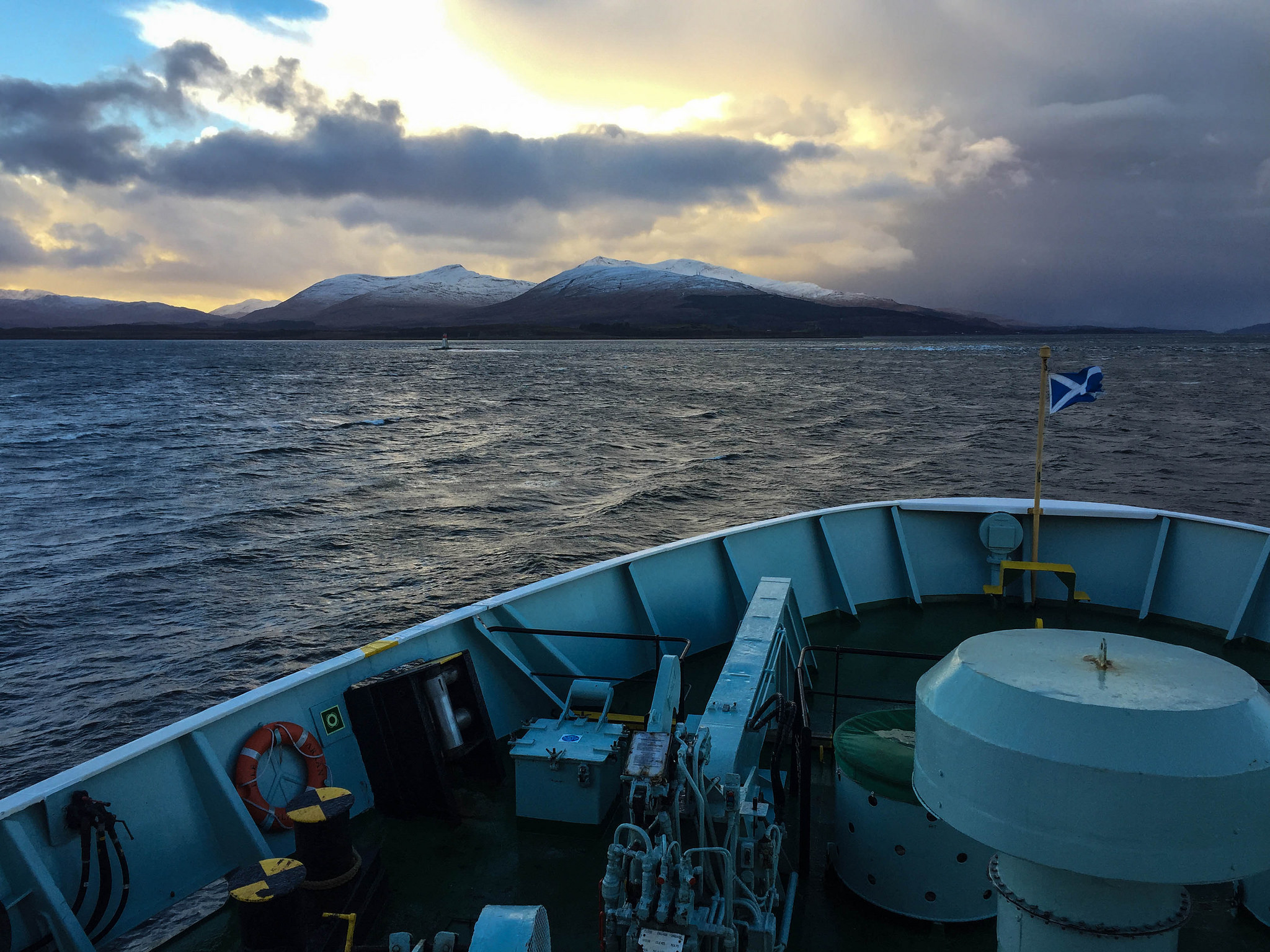 Crossing the Sound of Mull.
