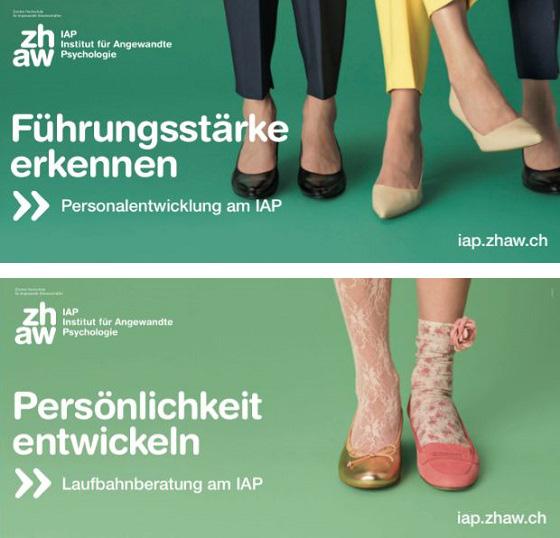 Hier werden nur Füße gezeigt, aber die erzählen eine Geschichte. Quelle: IAP Institut für angewandte Psychologie, Zürich
