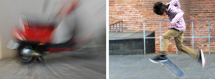Bewegungsunschärfe - unabhängig davon ob sich das Motiv oder der Hintergrund bewegt - bringt Tempo, Dynamik, Beweglichkeit oder Schnelllebigkeit ins Bild. Der Grad der Bewegungsunschärfe geht bis hin zum Surrealen. Hier ist es manchmal nicht mehr wichtig, das eigentliche Motiv zu erkennen, sondern ehr die Aufmerksamkeit des Betrachters durch die unwirkliche Aufnahme auf den Inhalt zu lenken. Je spannender Bildkomposition, Bildelemente und Verfremdung ist, desto interessanter ist das Bild.