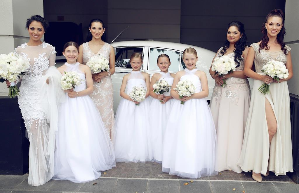 Gabriella Whittaker's Bridesmaid and flower girl dresses