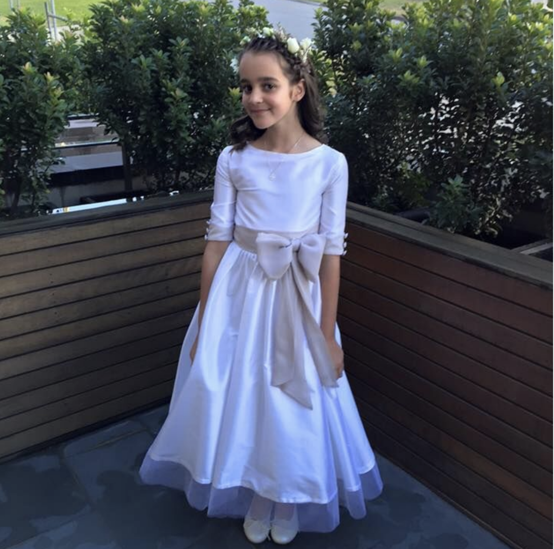 Linda Farnale's daughter Holy communion dress.