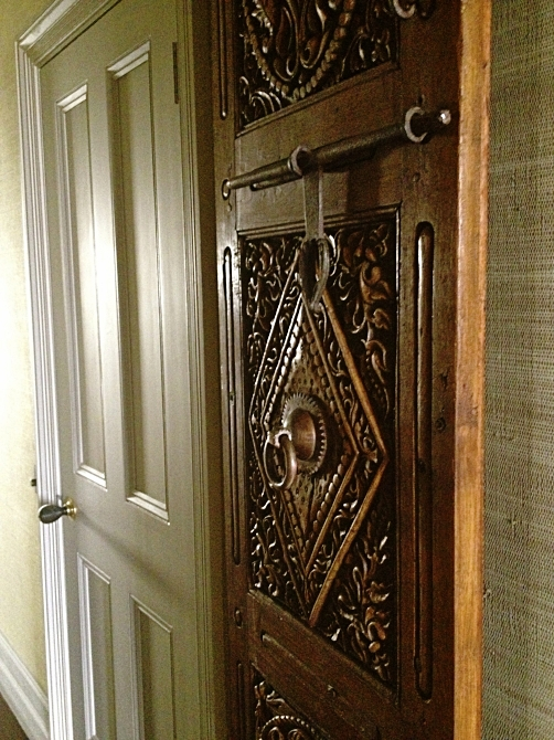 18.  Restore and install a pair of antique doors