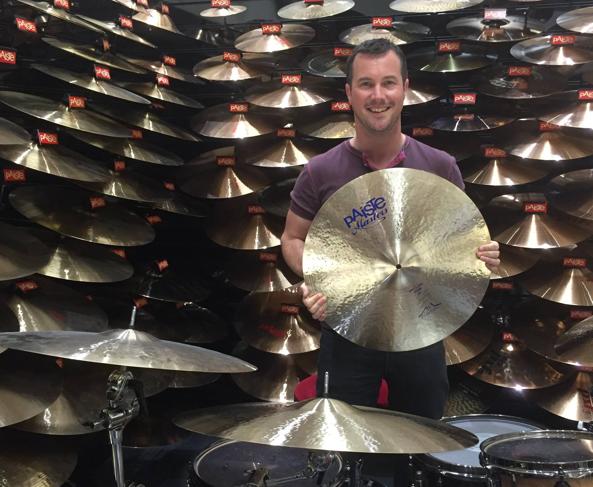 Proud day signing to Paiste and picking out a selection of cymbals at HQ in the UK