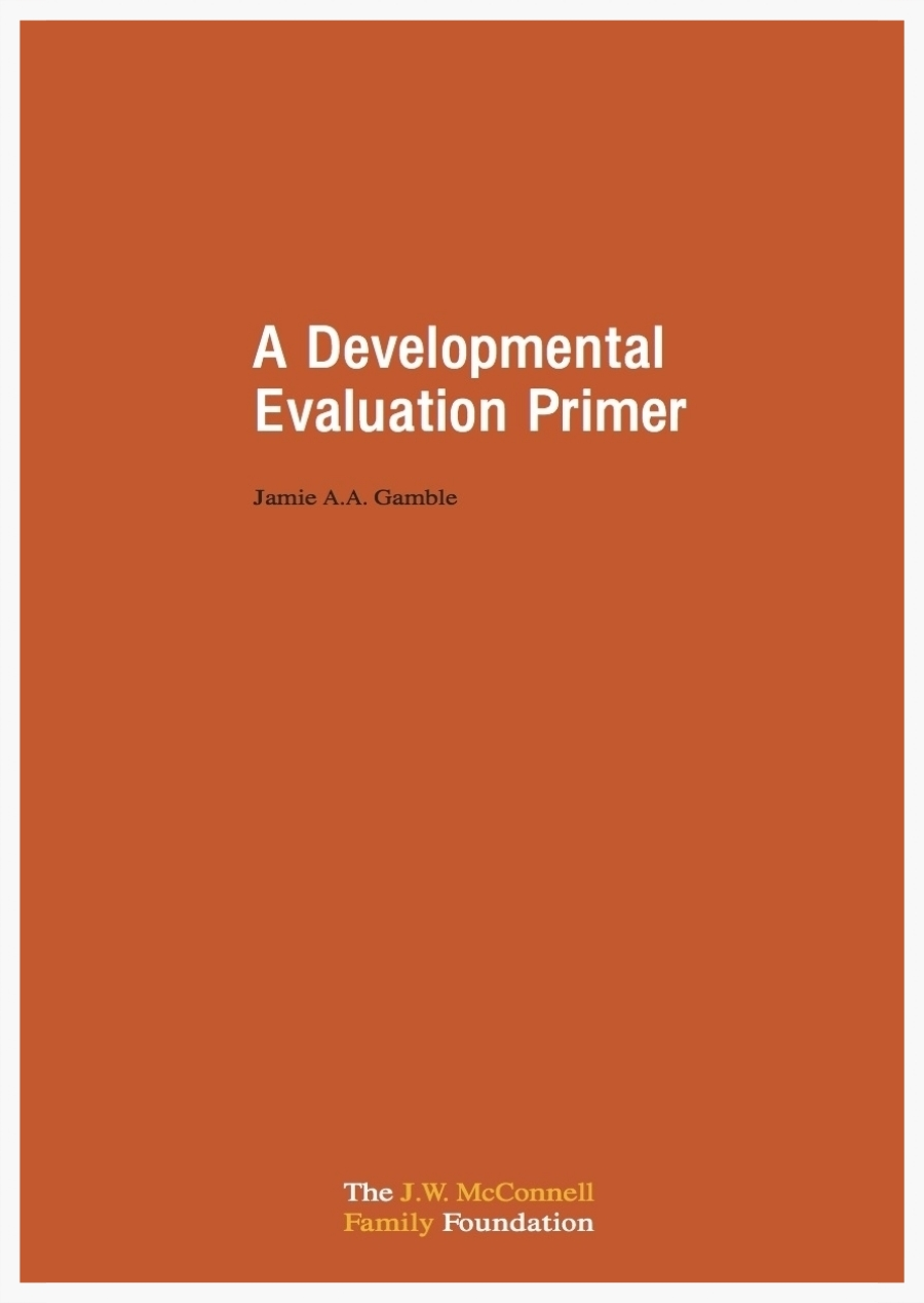 Developmental Evaluation Primer