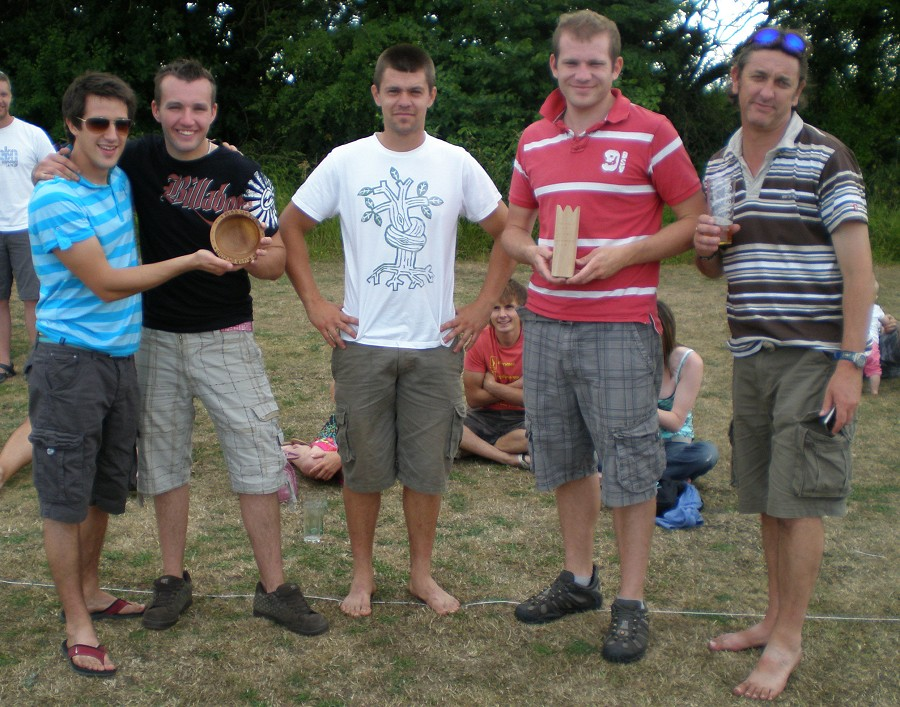 The plate winners and runners up. They can barely contain their excitement.