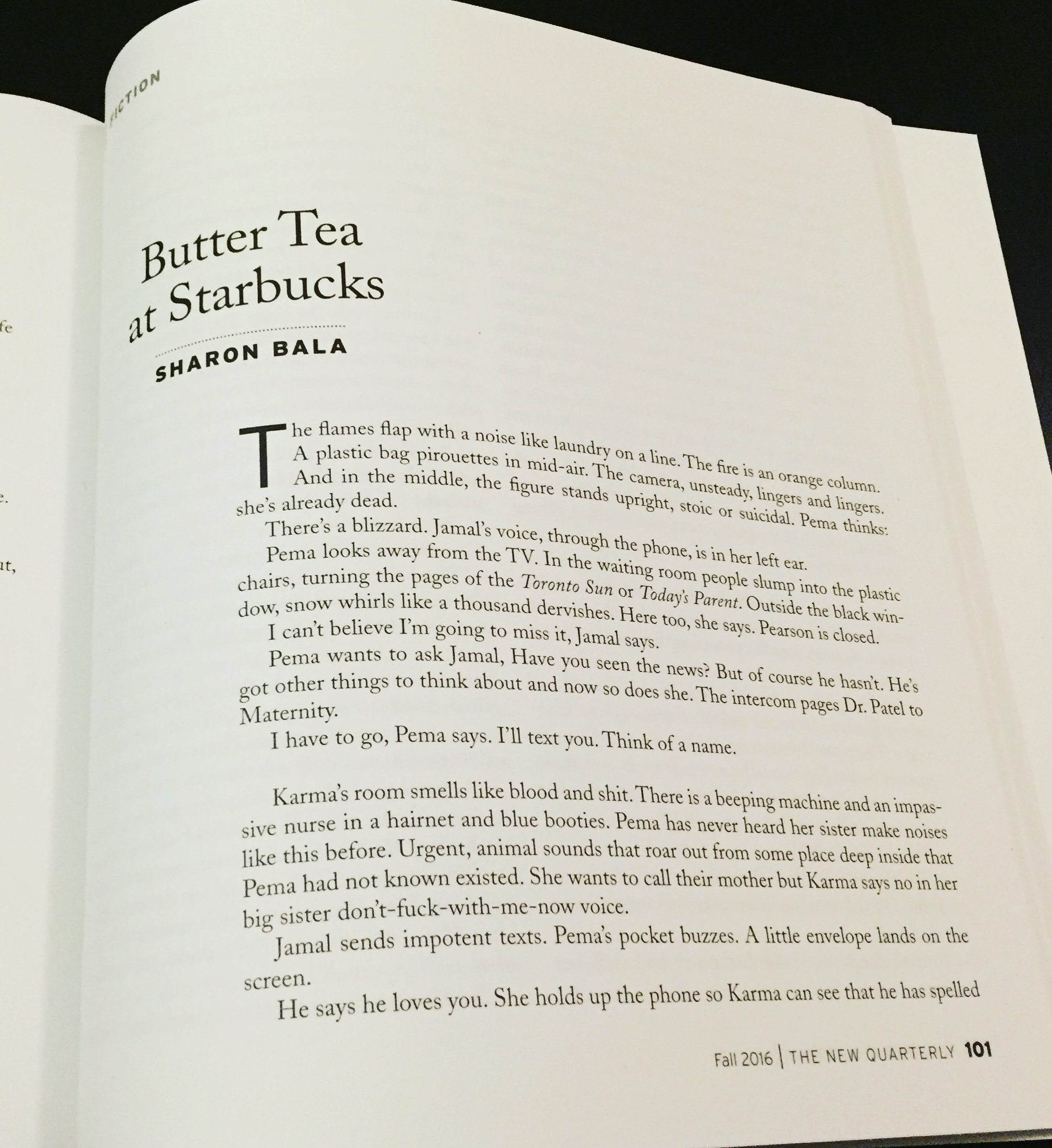 Butter tea by Sharon Bala