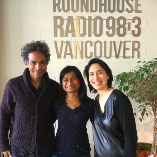 David, me, and Minelle. Photo courtesy of Roundhouse Radio.