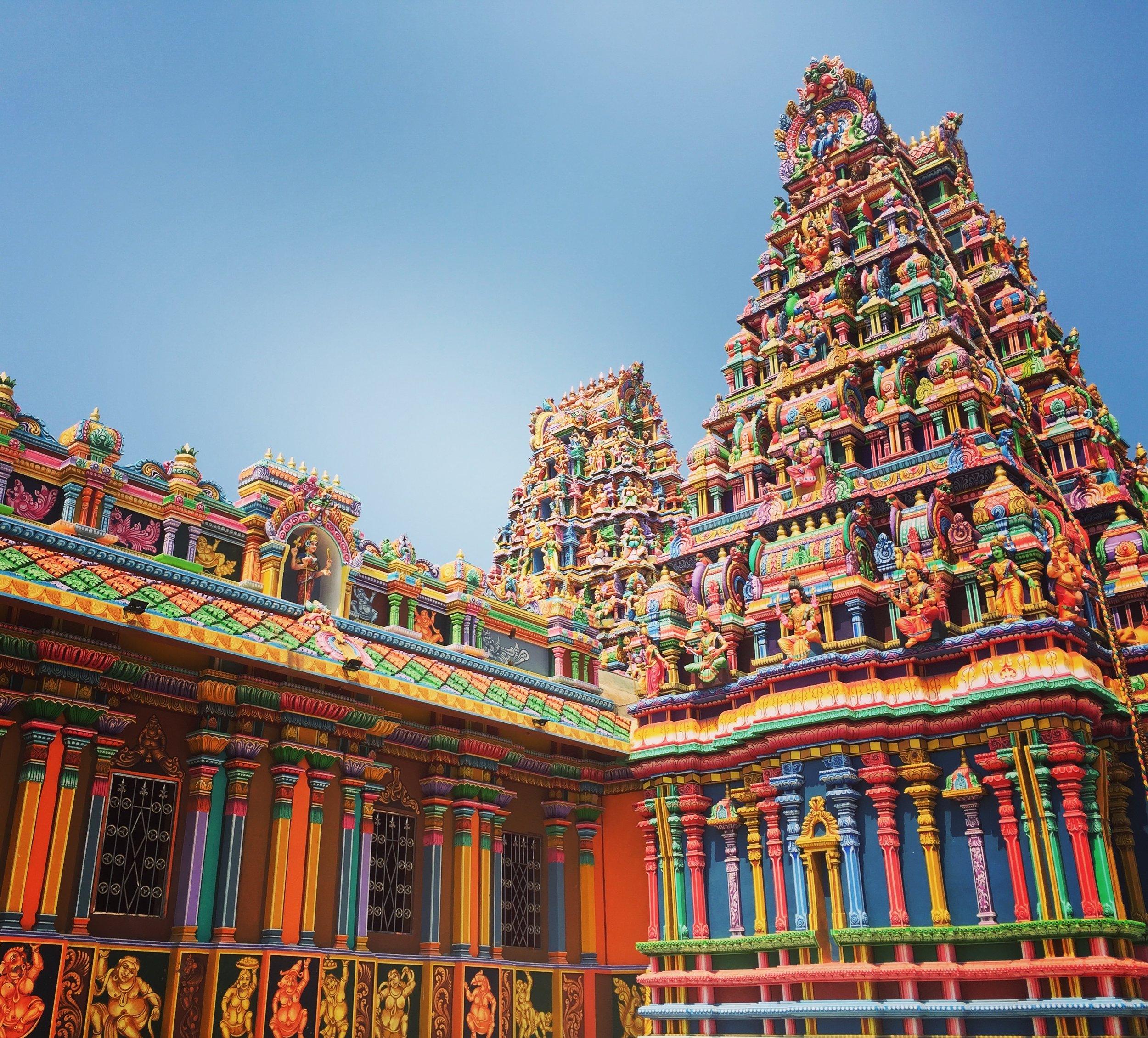 The Pathirakali Amman Temple (aka Kali Kovil) in Trincomalee, Sri Lanka.