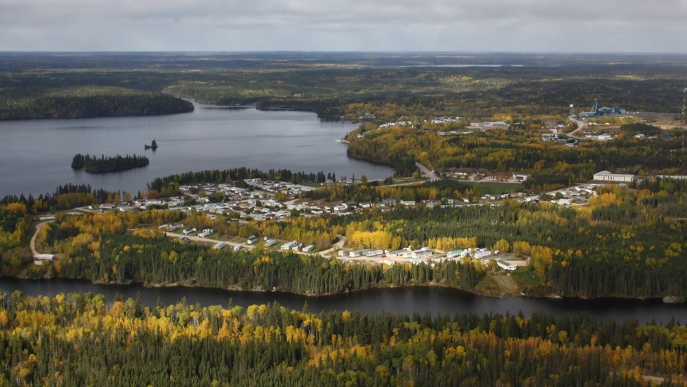 Aerial View - Snow Lake