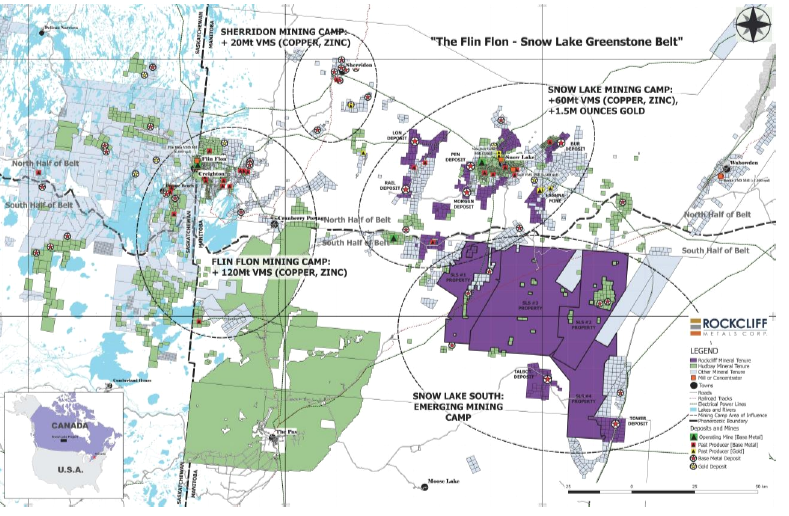 Figure 1: Rockcliff's Complete Property Portfolio (in purple) Including the Newly Acquired SLS #3 Property and SLS #4 Property Immediately Adjacent to the SLS #1 Property and SLS #2 Property  (To view the full-size image, please click  here )