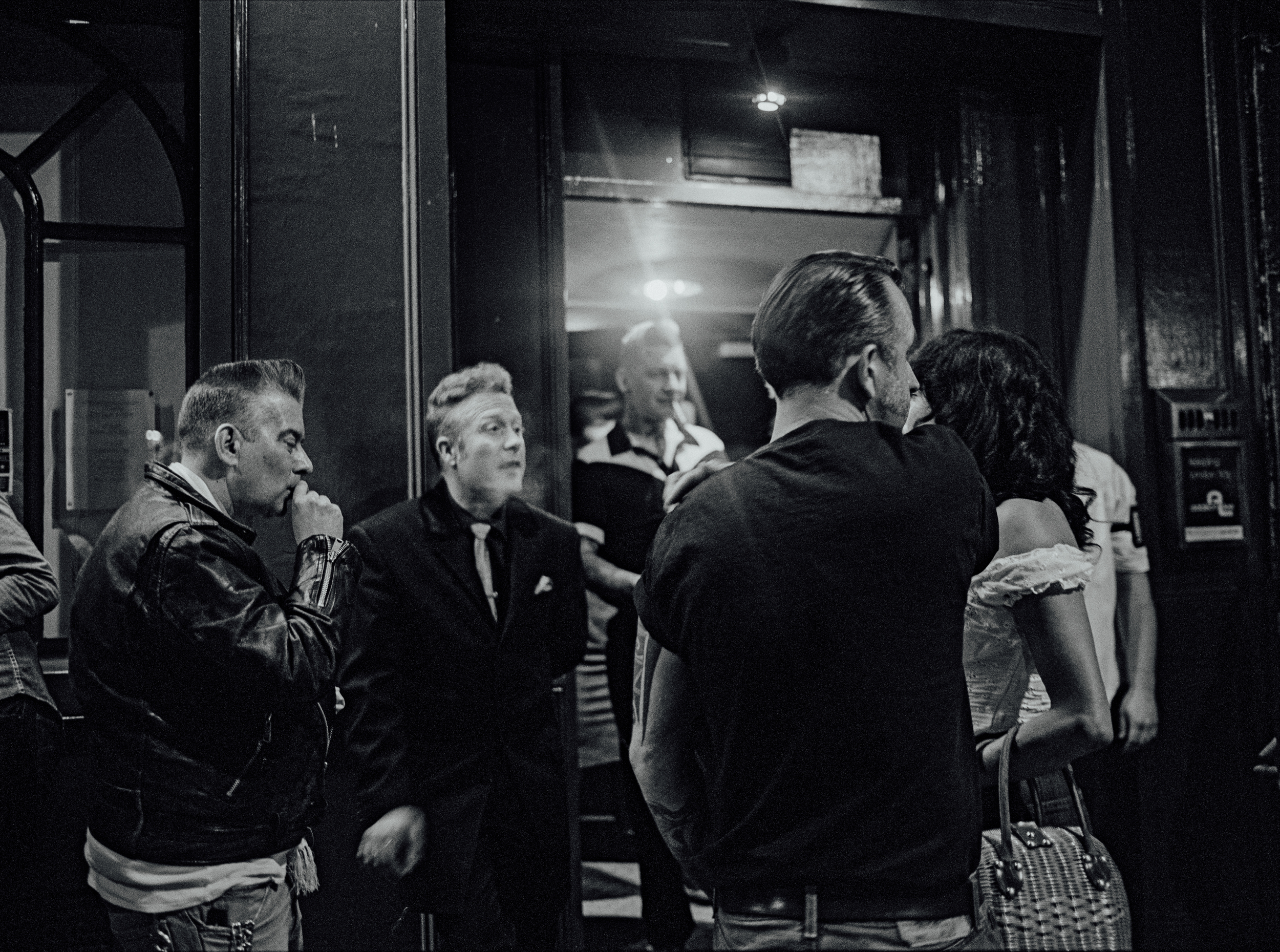 Smokers outside Virginia Creepers, London 2007