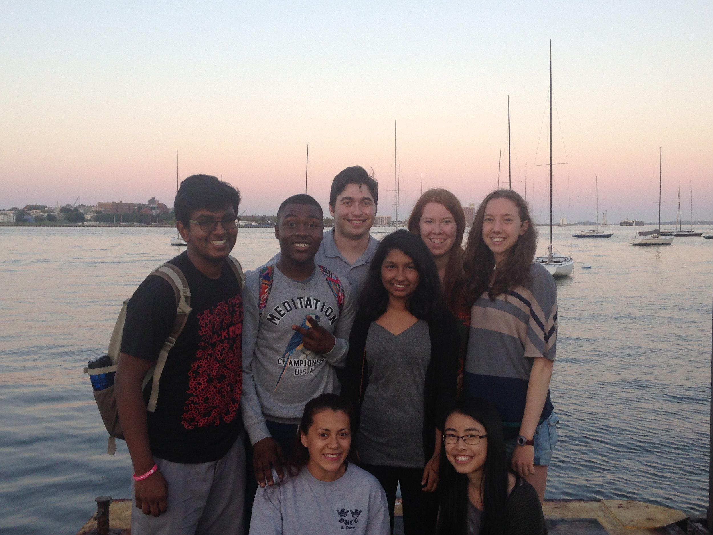 Faija in Boston with Project Rousseau in 2015 where she visited Harvard, Tufts and MIT.