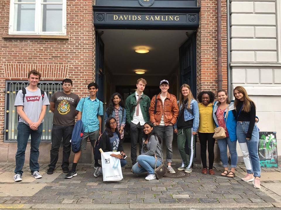 Faija at the 2017 Copenhagen SAT Boot Camp with her Project Rousseau and Rysensteen Gymnasium peers.