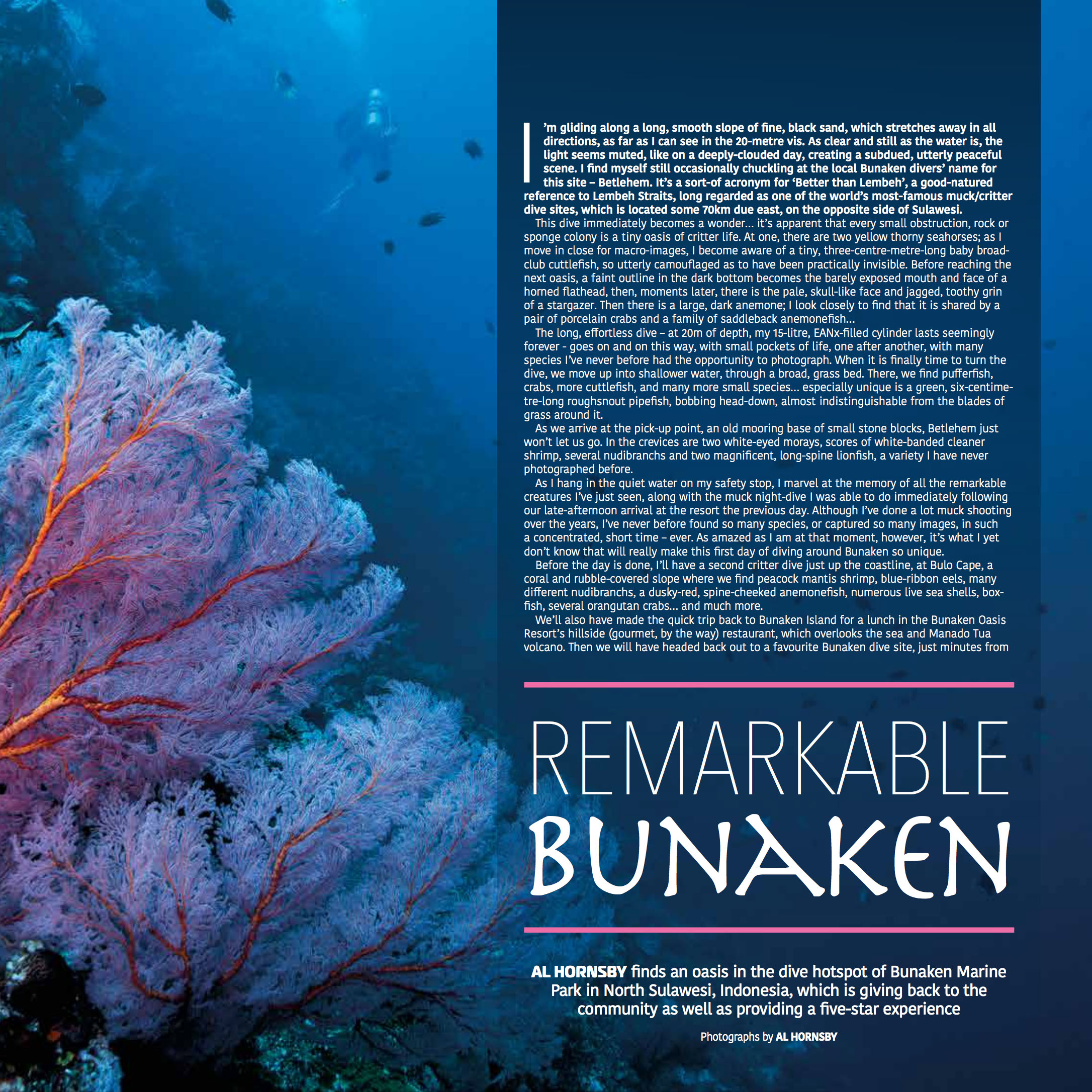 Article by Al Hornsby reprinted courtesy of Scuba Diver magazine