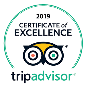 For the third year running we have been awarded the TripAdvisor Certificate of Excellence.